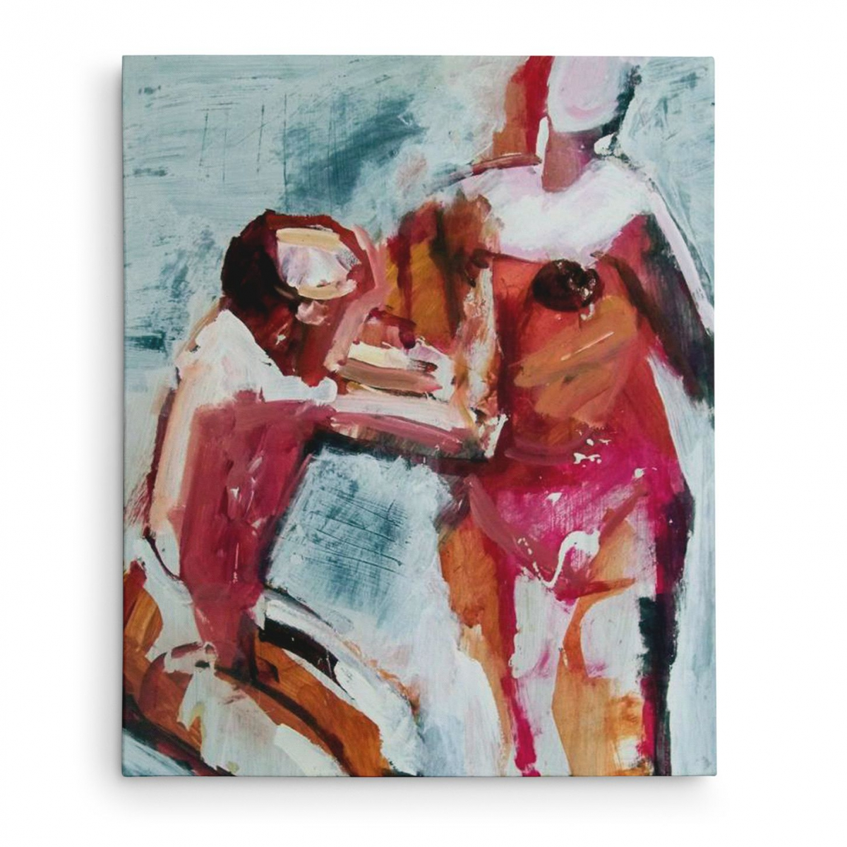 Dancecouple Second Version Oil on Masonite 60 – 80cm