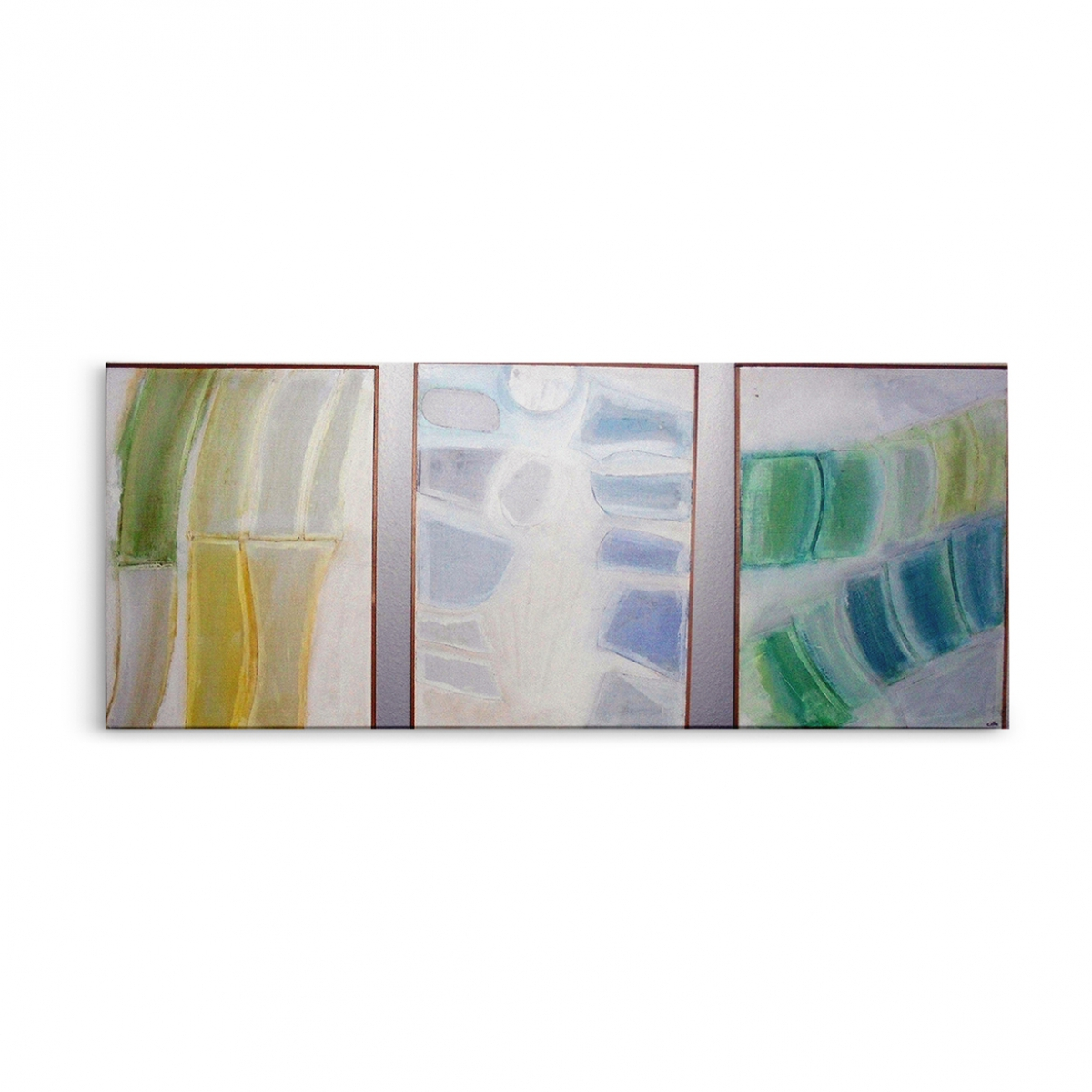 Summer Sonata Triptych Oil Collage on Masonite